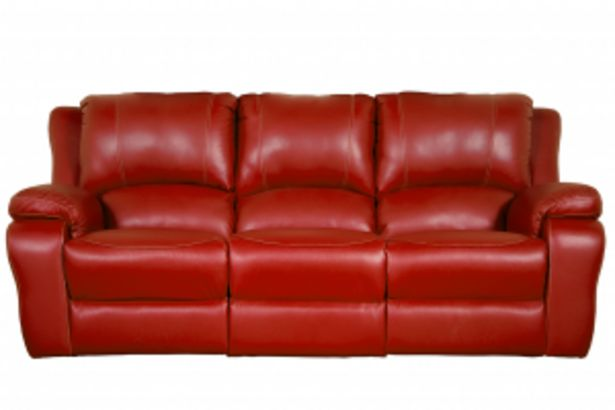 Lyla  Red 3 Division Static Leatherette Couch offer at R 379