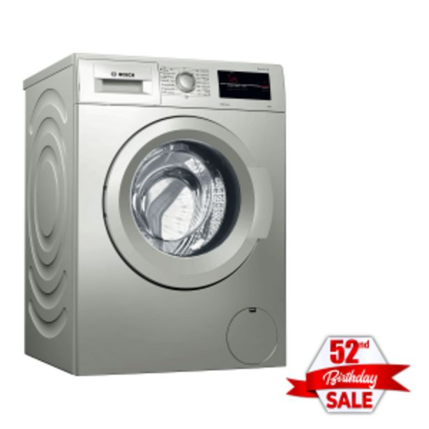 Bosch 8kg Silver Inox Front Loader Washing Machine offer at R 299