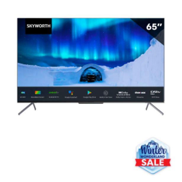 """Skyworth 65"""" Pro UHD Android 10 TV offers at R 799"""