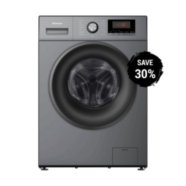 Hisense 9kg Titanium Silver Front Loader Washing M ... offer at R 299