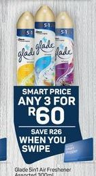 Glade Air Freshener 3 offer at R 60