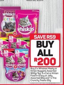 Whiskas Meaty Nuggets offer at R 200