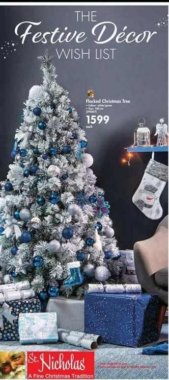 Flocked Christmas Tree offer at R 1599