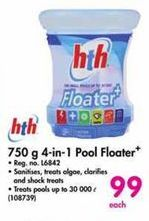 HTH 750g 4-in-1 Pool Floater offer at R 99