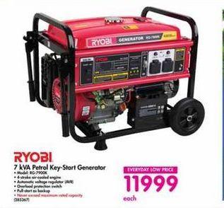 Ryobi 7 kVA Petrol Generator offer at R 11999