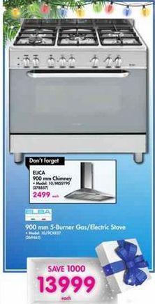 Elba 900mm 5-Burner Gas / Electric Stove offer at R 13999
