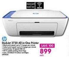 HP DeskJet 2720 All-in-One Printer offer at R 899