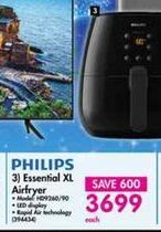Philips Essential XL Airfryer offer at R 3699