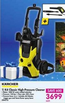 Karcher K4 Classic High-Pressure Cleaner offer at R 3699