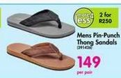 Mens Pin-Punch Thong Sandals offer at R 149