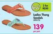 Ladies Thong Sandals offer at R 139