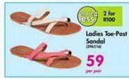 Ladies Toe-Past Sandal offer at R 59