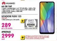 Huawei Y6p Smartphone 64GB offer at R 289