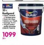Dulux 20 l Roofguard offer at R 1099