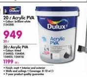 Dulux 20 l Acrylic PVA offer at R 949