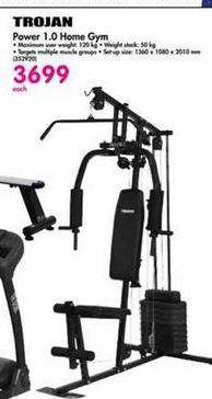 Trojan Power 1.0 Home Gym offer at R 3699