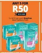 Stayfree Maxi Sanitary Pads 5 offer at R 50