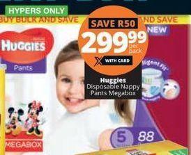 Huggies Disposable Nappy Pants Megabox offer at R 299,99