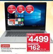 Lenovo 14'' AMD PRO A4 Slim Ideapad Notebook offer at R 4499