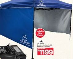 Blue Mountain Gazebo with Side Panels and Carry Bag offer at R 1199