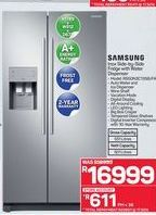 Samsung Inox Side-by-Side Fridge with Water Dispenser offer at R 16999
