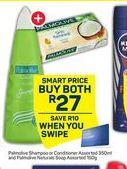 Palmolive Shampoo / Conditioner & Palmolive Soap offer at R 27