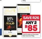 Lindt Excellence Chocolate 2 offer at R 85
