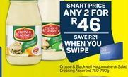 Crosse & Blackwell Mayonnaise or Salad Dressing 2 offer at R 46