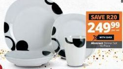 Abstract Dinner Set offer at R 249,99
