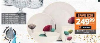 Dandelion Dinner Set offer at R 249,99