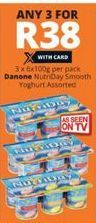 Danone Nutriday Smooth Yoghurt 3 offer at R 38