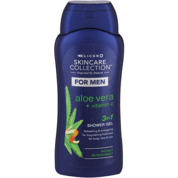 Skincare Collection For Men 3-in-1 Shower Gel Aloe Vera & Vitamin C 400ml offers at R 39,99
