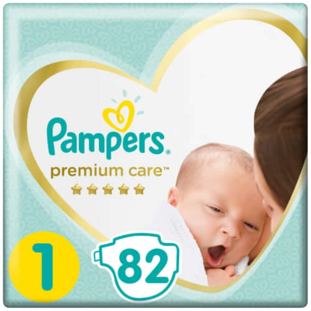 Premium Care 82 Nappies Size 1 offers at R 264,99