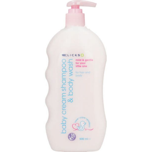 Baby Cream Shampoo And Body Wash 500ml offers at R 54,99