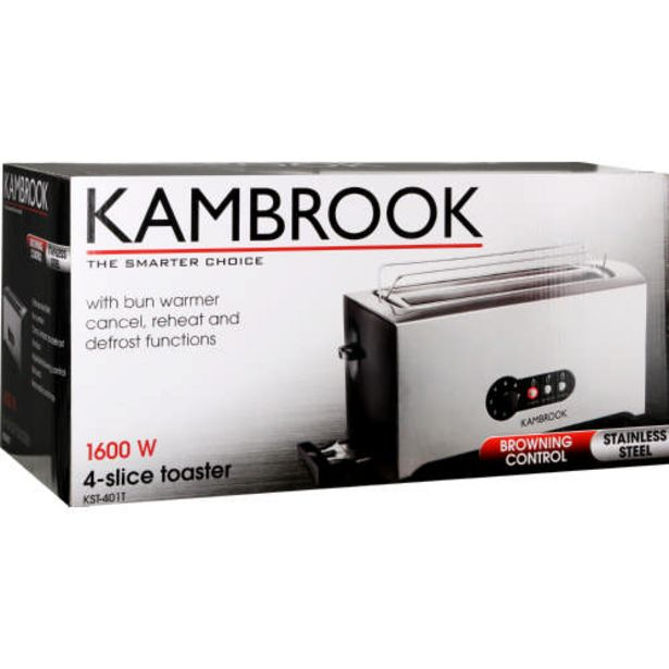4-Slice Stainless Steel Toaster offers at R 549