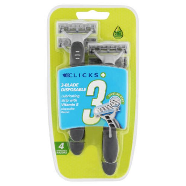 Men's Triple Blade Disposable Razors 4 Pack offers at R 52,99