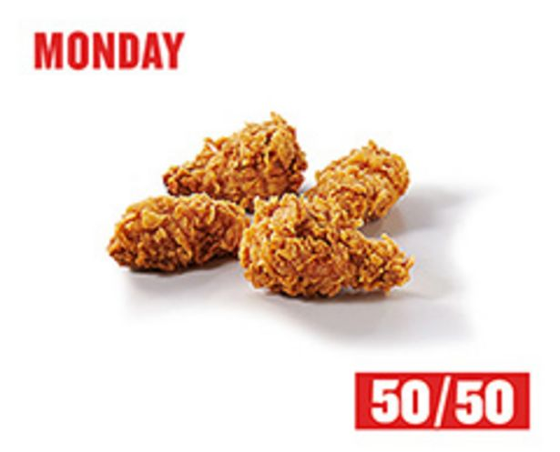 4 Zinger Wings 50/50 offers at R 12,45