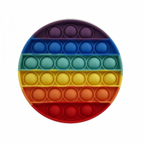Silicone Fidget Round Rainbow Popper offers at R 79,9