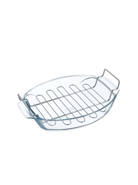 PYREX OVAL ROASTER WITH RACK 4L offer at R 489