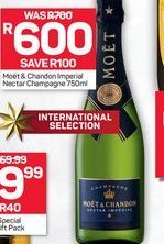 Moet & Chardon Imperial Nectar Champagne offer at R 600