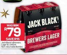 Jack Black's Brewers Lager NRB offer at R 79