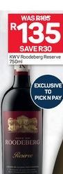 KWV Roodeberg Reserve offer at R 135