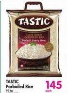 Tastic Long Grain Parboiled White Rice offer at R 145