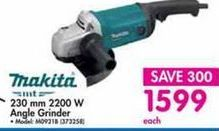 Makita 230mm 2200 W Angle Grinder offer at R 1599