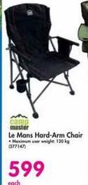 CampMaster Le Mans Hard-Arm Chair offer at R 599