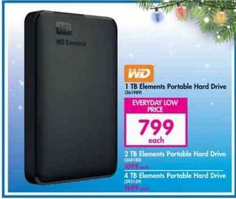 WD 1TB Elements Portable Hard Drive offer at R 799