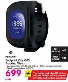 Rocka Footprint Kids GPS Tracking Watch offer at R 699