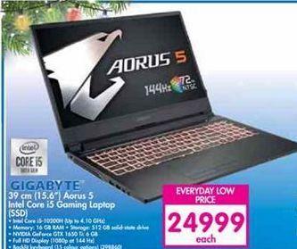 Gigabyte 15.6'' Aorus 5 Intel Core i5 Gaming Laptop SSD offer at R 24999