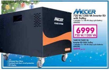Mecer 720 W / 1200 VA Inverter Kit with Trolley offer at R 6999