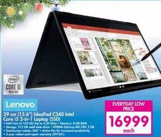 Lenovo 15.6'' Ideapad C340 Intel Core i5 2-in-1 Laptop SSD offer at R 16999